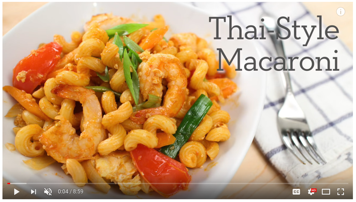 screenshot of thai cooking video