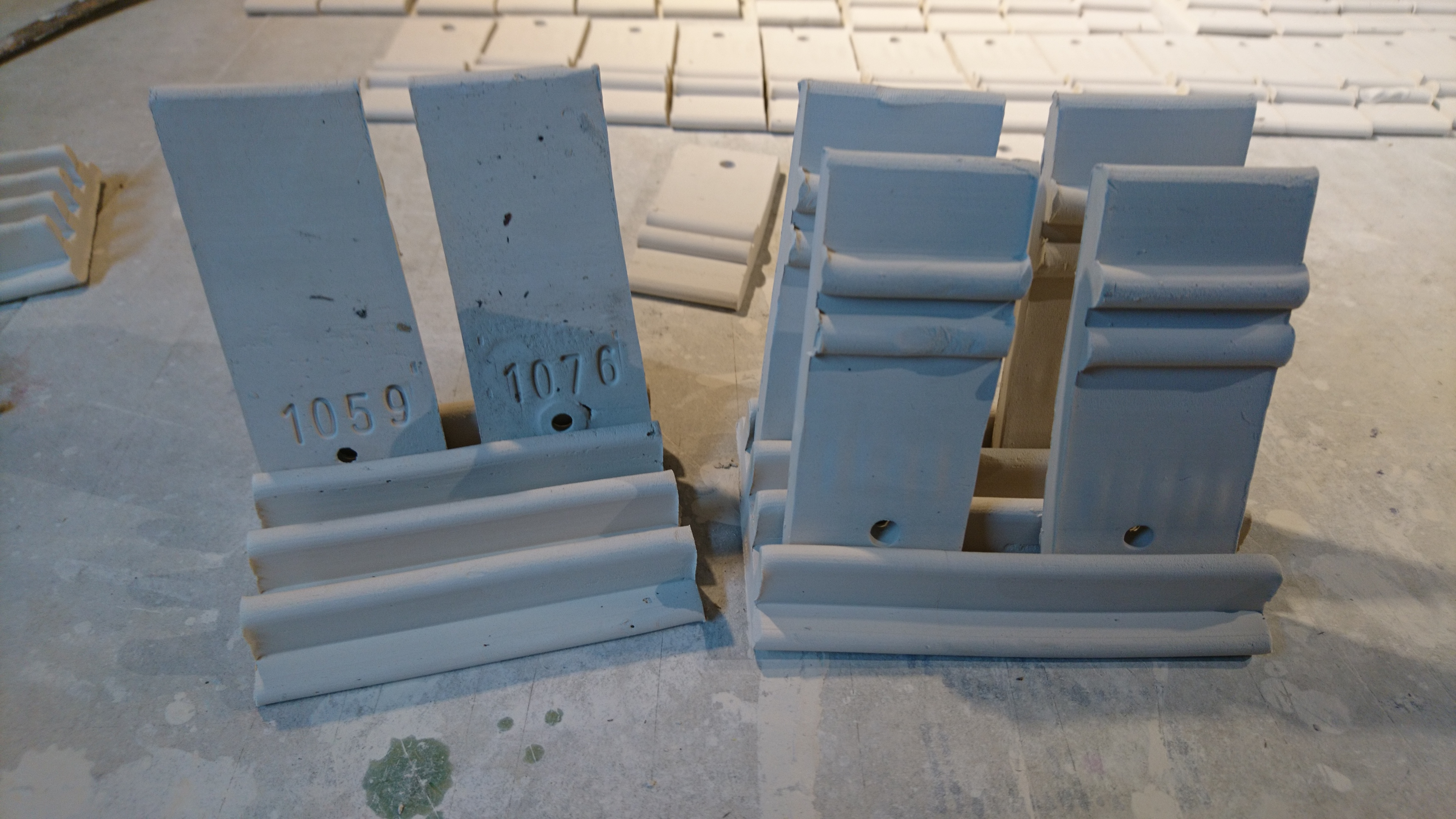 test tiles in their holder